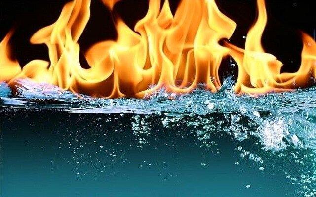 Почему вода не горит?
