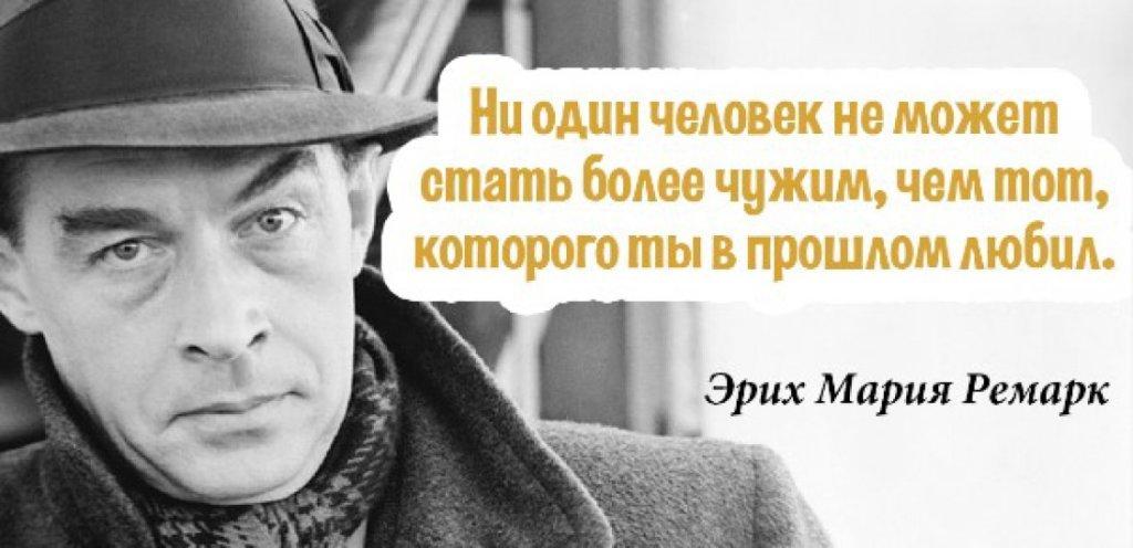 Лучшие цитаты Эрих Мария Ремарк