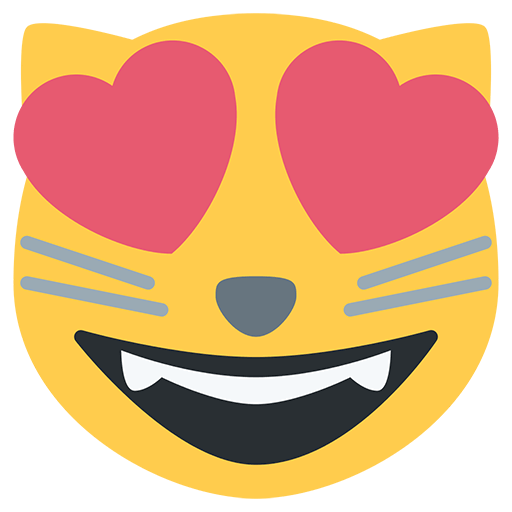 Smiling Cat Face With Heart-Eyes