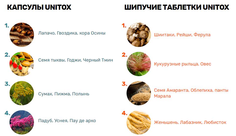 Состав Юнитокс