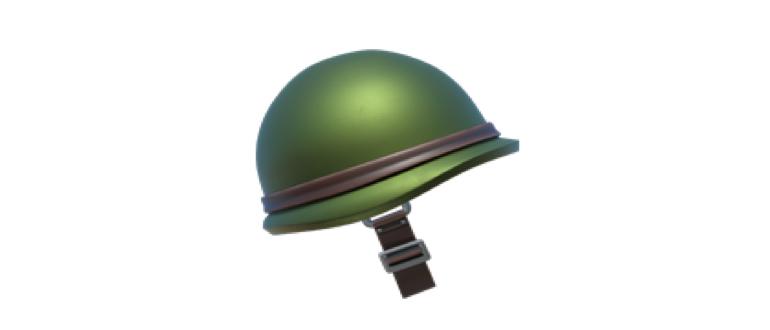 emoji военный шлем