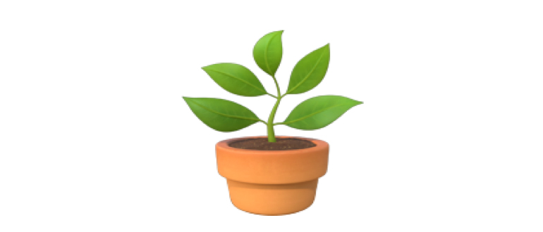 emoji растение в горшке