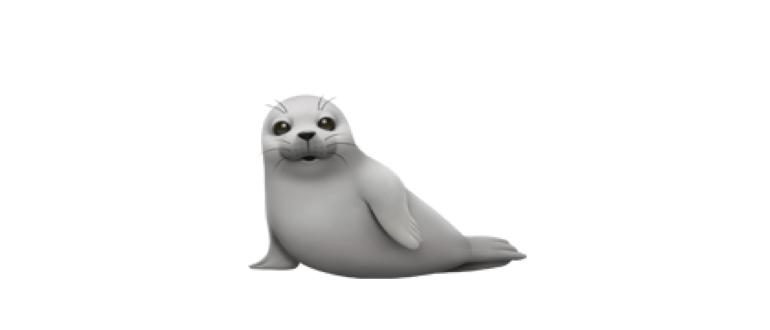 emoji тюлень