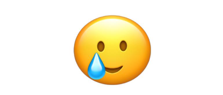 emoji улыбка со слезой